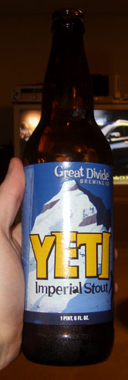 Great Divide Yeti Imperial Stout bottle